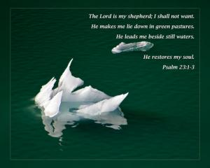Daily Scripture Art Psalm 23 1-3